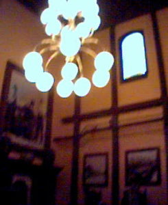 Lamp in the lobby at the Old Spaghetti Factory
